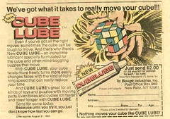 1982 ad for Cube Lube | by Paxton Holley
