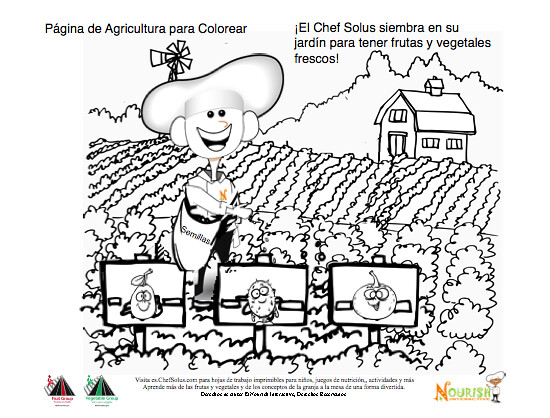 Planting A Garden Coloring Page Spanish- Nutrition Educati… | Flickr