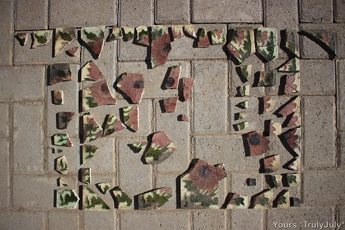 Let's begin the puzzle work! These are the ceramic pieces we excavated from our garden.