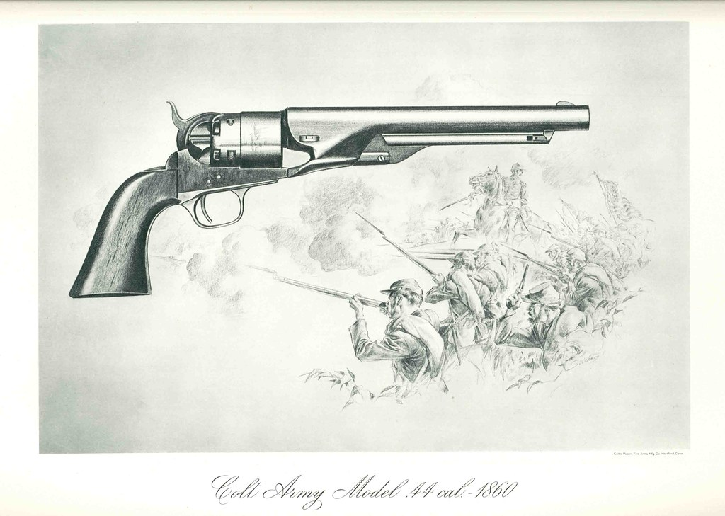 Cal Fire Map >> Colt's Historical Prints - Colt Army Model .44 cal. - 1860… | Flickr
