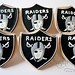Oakland Raiders Shield Logo Cookie Favors