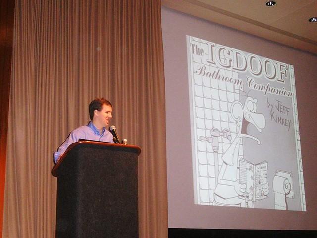 Jeff And Igdoof Jeff Kinney With His First Comic Igdoof