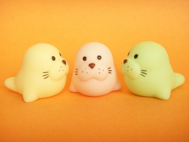 Cute Japanese Toys : Kawaii cute seal small rubber dolls mascot japanese toys r