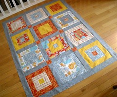 finished quilt top--simple squares | by vickivictoria