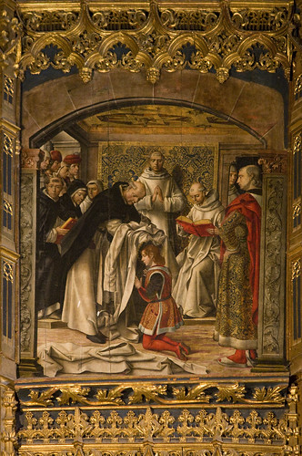 St Thomas receiving the Dominican habit | by Lawrence OP