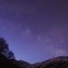 Milky Way in deep blue morning twilight