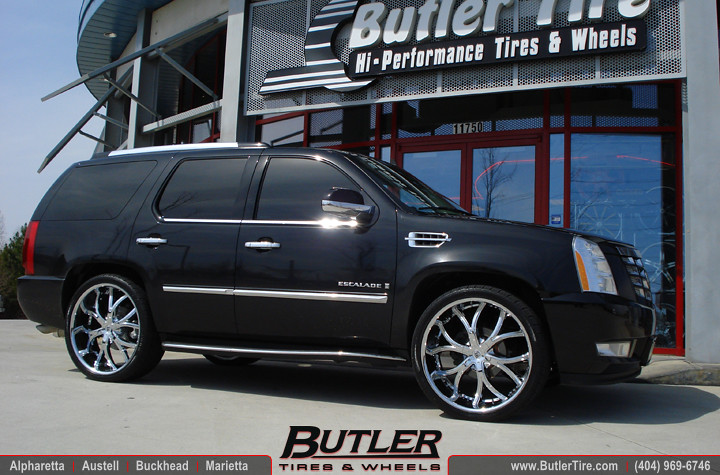 Cadillac Escalade With 26 Quot Lexani Dial Wheels And Lowered
