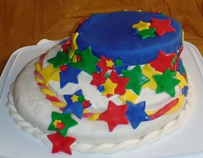 Yr old - boys birthday cake  The birthday boy helped out ...