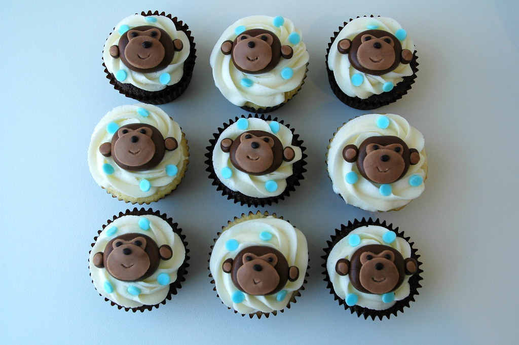 Baby Shower Monkey Images ~ Cupcakes for monkey themed baby shower monkey cupcakes foru flickr