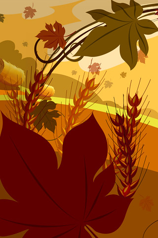 thanksgiving-iphone-wallpaper-13 | maple leaf, ear, the ...