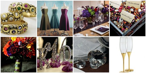 jewel tone wedding color palette jewel tone inspired. Black Bedroom Furniture Sets. Home Design Ideas