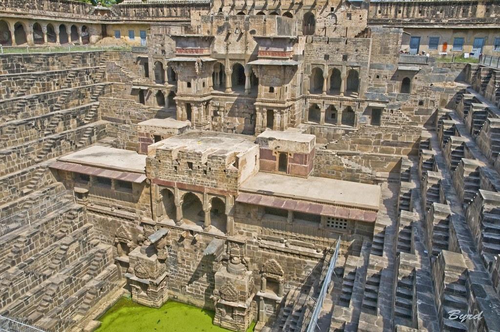 Chand Baori Abhaneri Step Well 10th Century Rajasthan