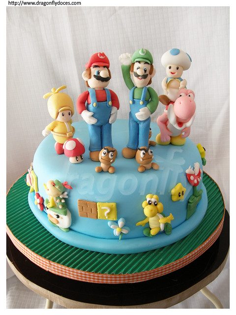New Super Mario Bros Cake Bolo de New Super Mario Bros Flickr