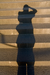 Shadow walking up the steps | by Horia Varlan