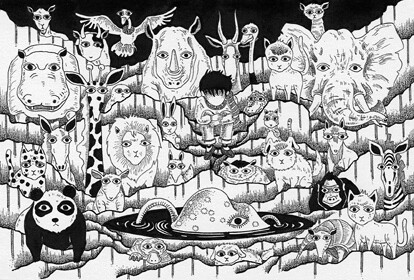 Ink Drawing Zoo Of Midnight Illustration Drawn With Draw Flickr