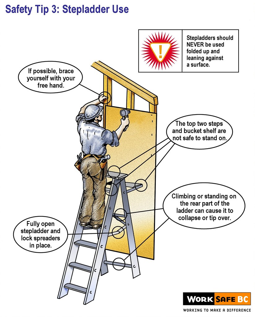 Ladder Safety Tip 3 Stepladder Use These Ladder Safety