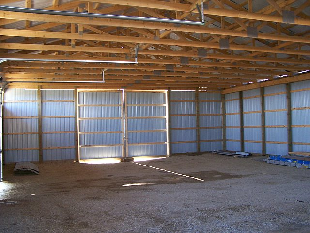 40x60x12 Diy Pole Barn An Interior View Notice Just How M Flickr