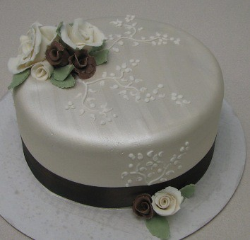 Single Tier Wedding Cake Designs