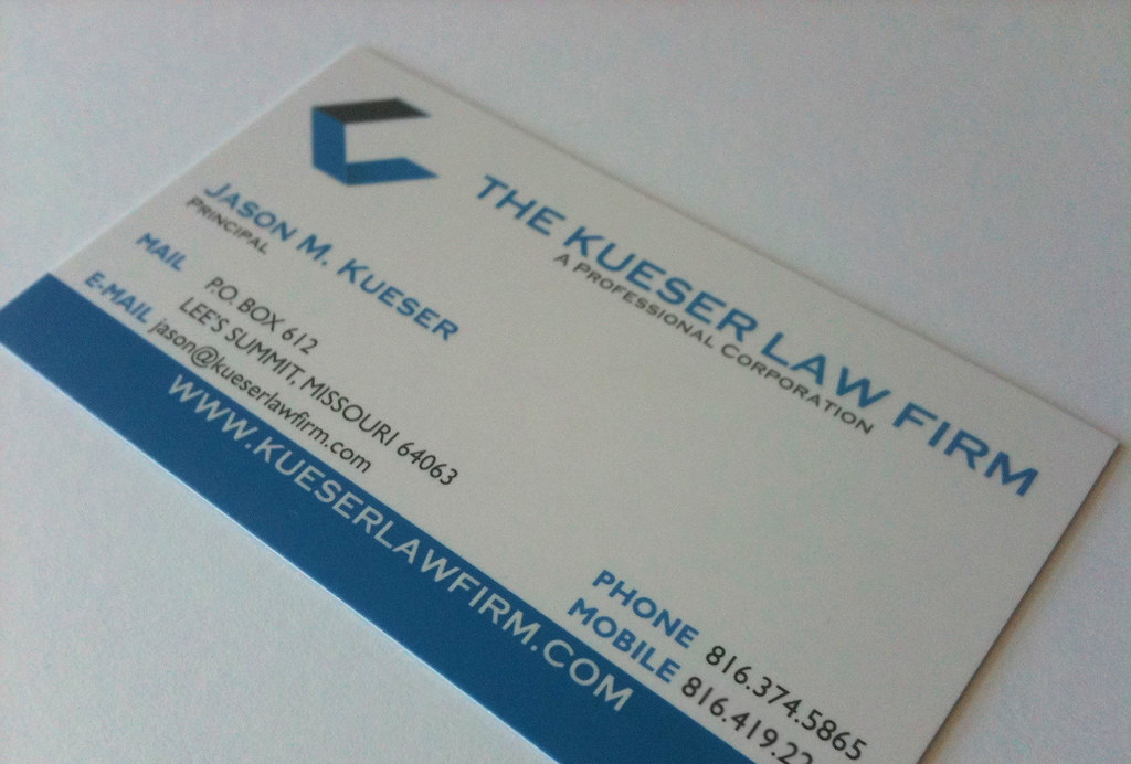 Kueser Law Firm Business Card (Front) | Designed by me, crea… | Flickr