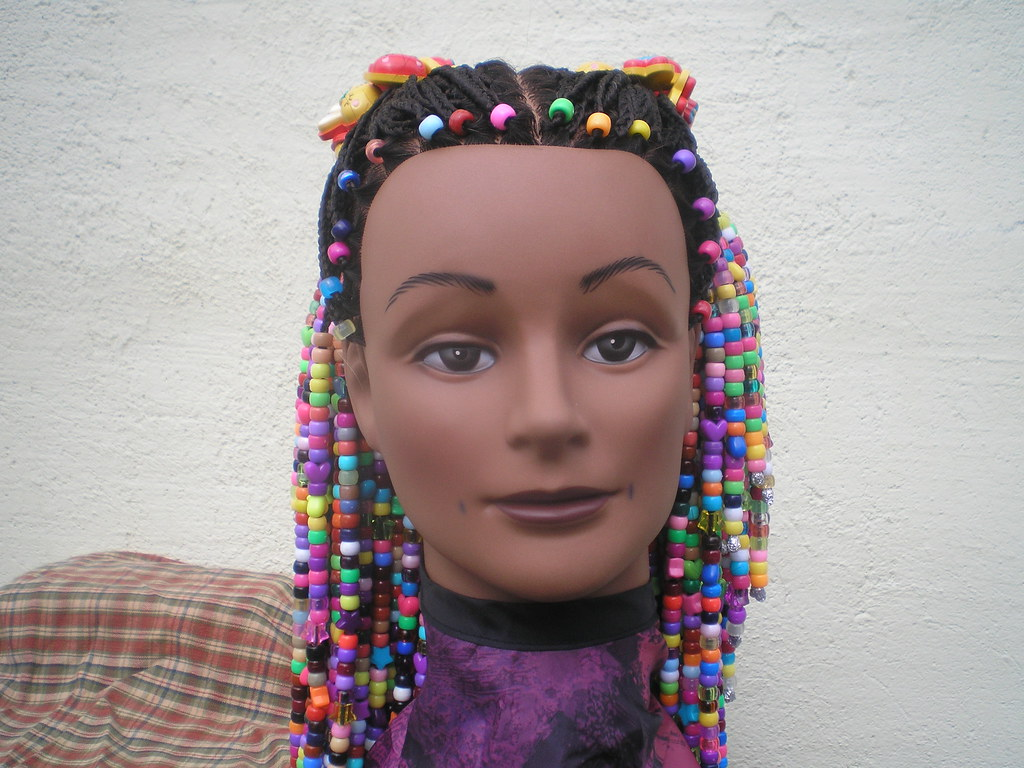 Braids And Beads Hairstyle For Girls Front Robby Adams