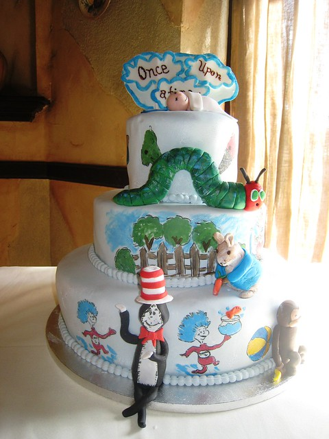 Once Upon a Time - Storybook Baby Shower Cake | Flickr ...