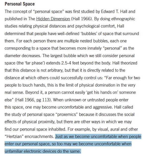 personal space sociological definition of from paper o