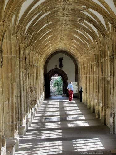 Wells Cathedral cloiser corridor