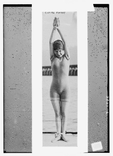 Claire Farry diving  (LOC) | by The Library of Congress
