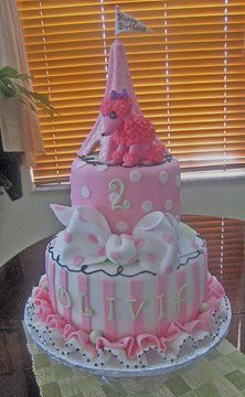 Poodle In Paris Birthday Cake For A 2 Year Old Girl