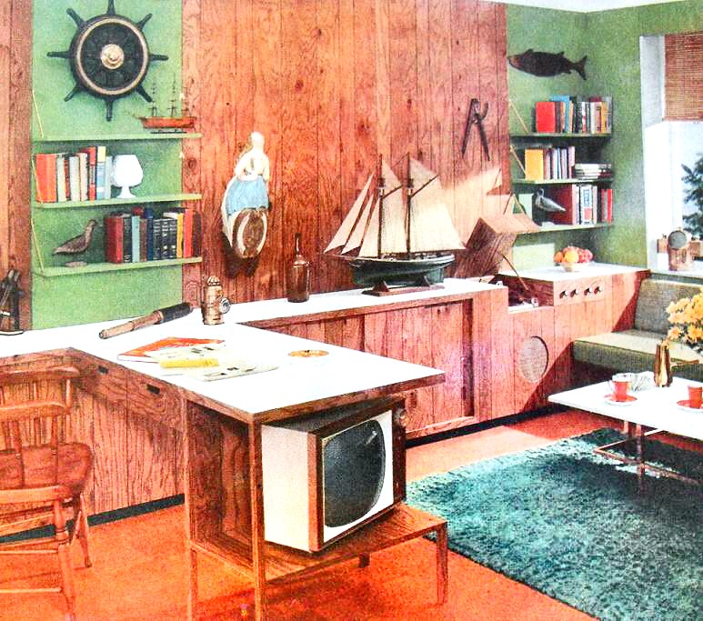 48s Den Office Nautical Vintage Interior Design Photo Flickr Mesmerizing 1950S Interior Design