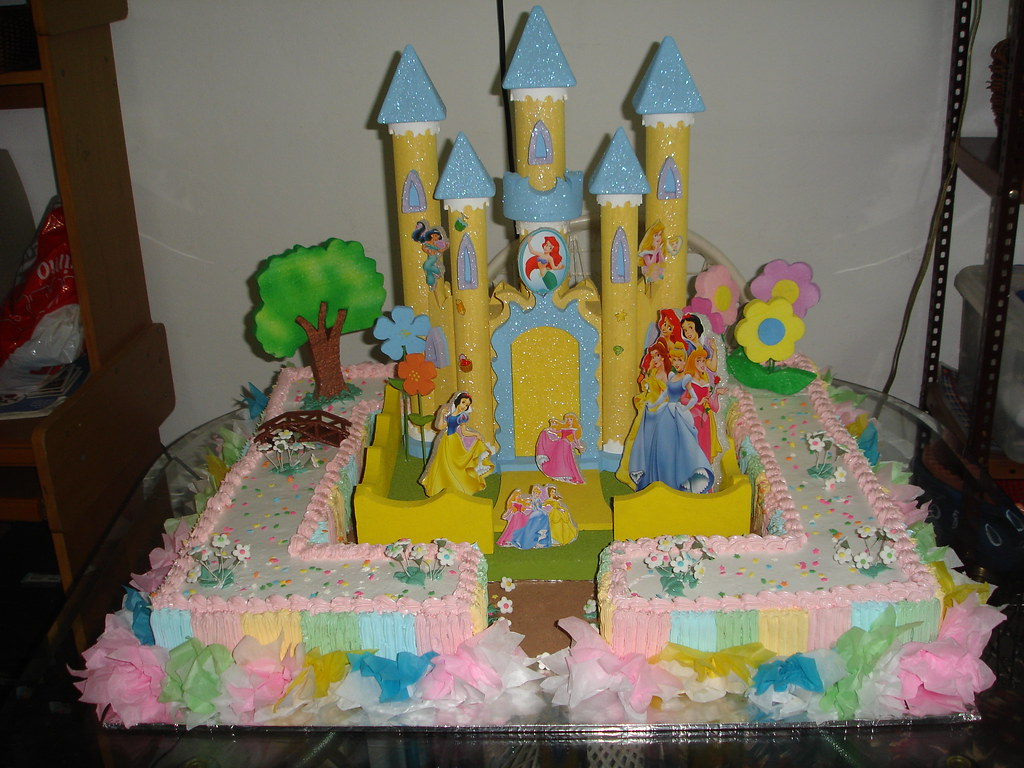 bizcocho de cumpleanos infantil the princess