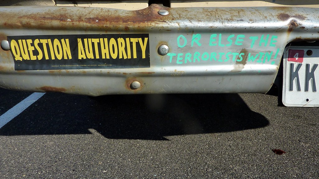 Bumper Sticker Question Authority