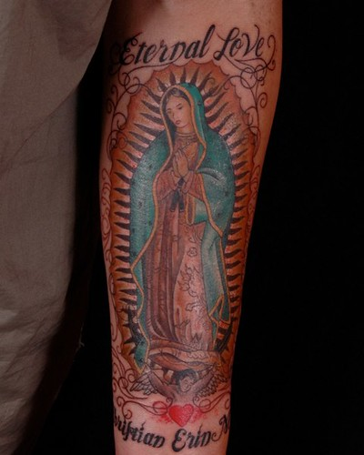 Mary blessed mother independent tattoo flickr for Holy mary tattoo