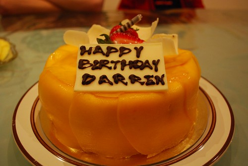 Happy Birthday Darren Mango Sponge Cake Cake World