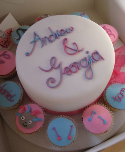 Father and daughter birthday cake and cupcakes www ...