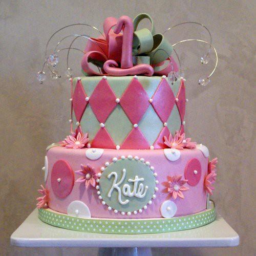 Girly 1st Birthday Cake Nicole McGarry Flickr