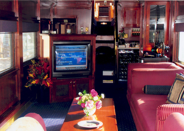 private rail car warren r henry lounge private rail cars flickr. Black Bedroom Furniture Sets. Home Design Ideas