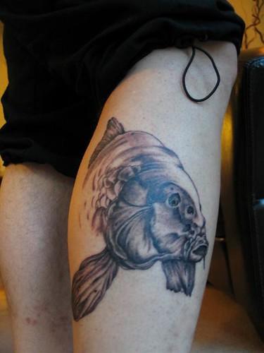 Mirror Carp Calf Tattoo My Mirror Carp Tattoo On My