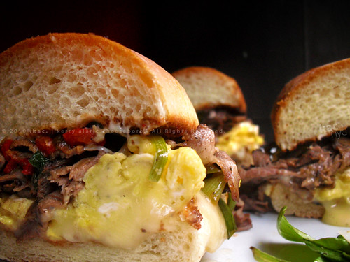 Roast Beef, Brie & Egg Sandwich | Arugula Salad with Shave ...