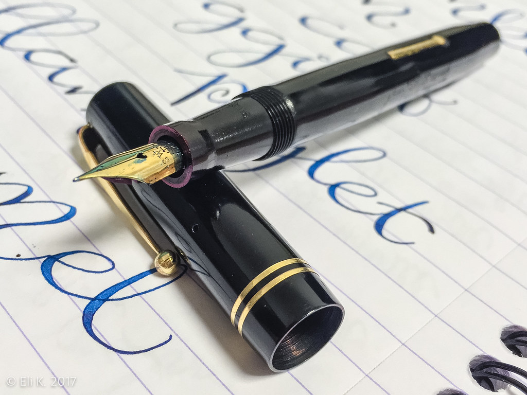 Mabie Todd Swan Self-Filler, Diamine Asa Blue, Europa Notemaker