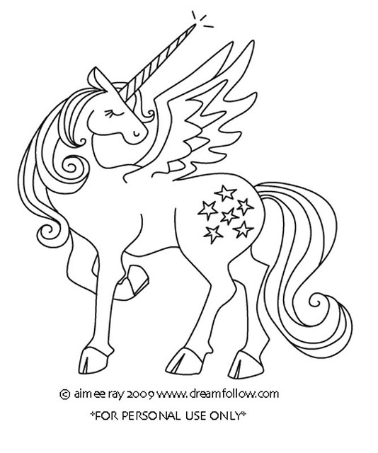 Winged Unicorn Free embroidery