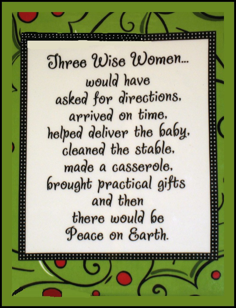 Three Wise Women Hilarious Decorative Hanging Tile Found