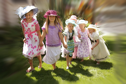 cousins dress up for oudoor tea party series young cousi flickr. Black Bedroom Furniture Sets. Home Design Ideas