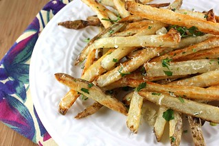 Baked French Fries Recipe with Garlic, Parsley, and Parmesan Cheese | by CookinCanuck