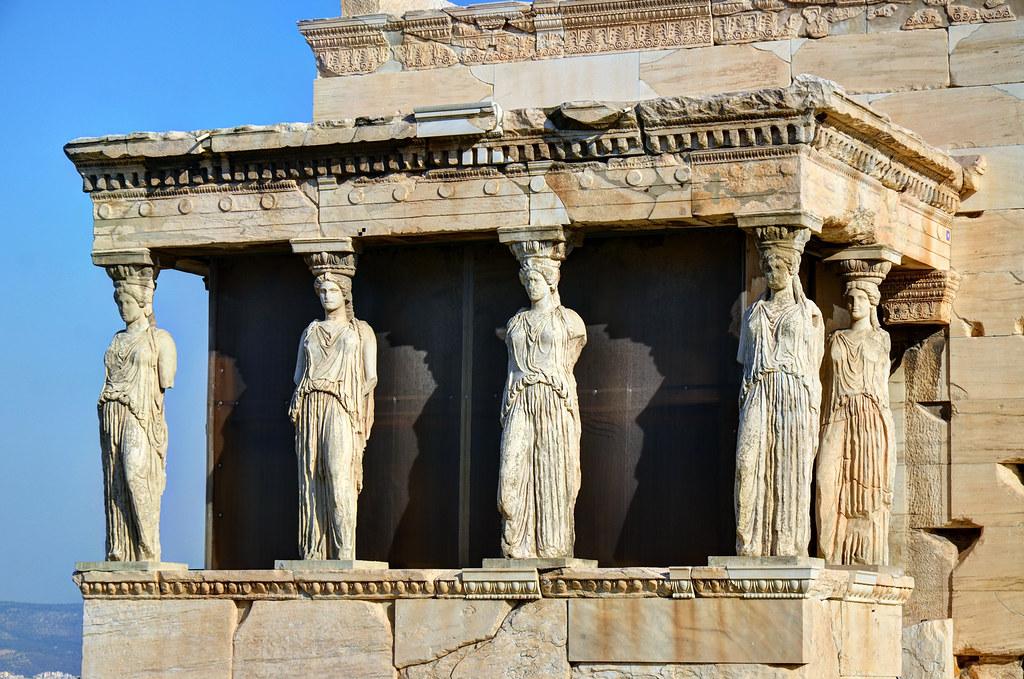 Erechtheion Caryatids Architect Poss Mnesikles