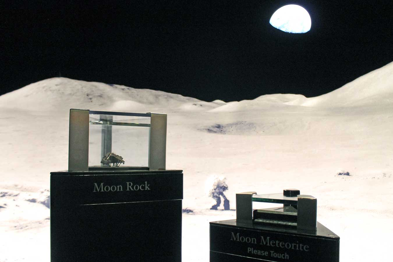 Moon Rock & Meteorite on display at the SPACE: A Journey To Our Future exhibit (Gerald R. Ford Presidential Museum in Grand Rapids, Michigan) /// Gerald R. Ford Presidential Museum: Legacy Of An Unelected President - (via Wading in Big Shoes)