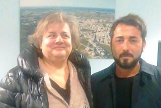Noicattaro. La prof.ssa Stefania Pollastro e Angelo Gasparre front