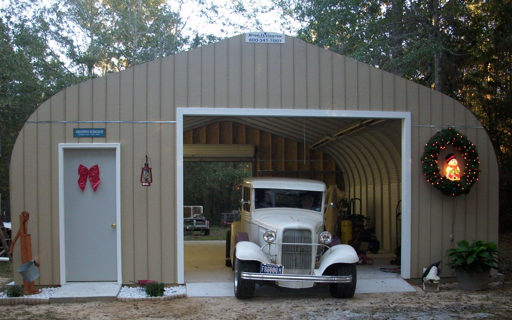 Steelmaster steel garage steel garage a model 25 13x30 for Modular garage with living quarters