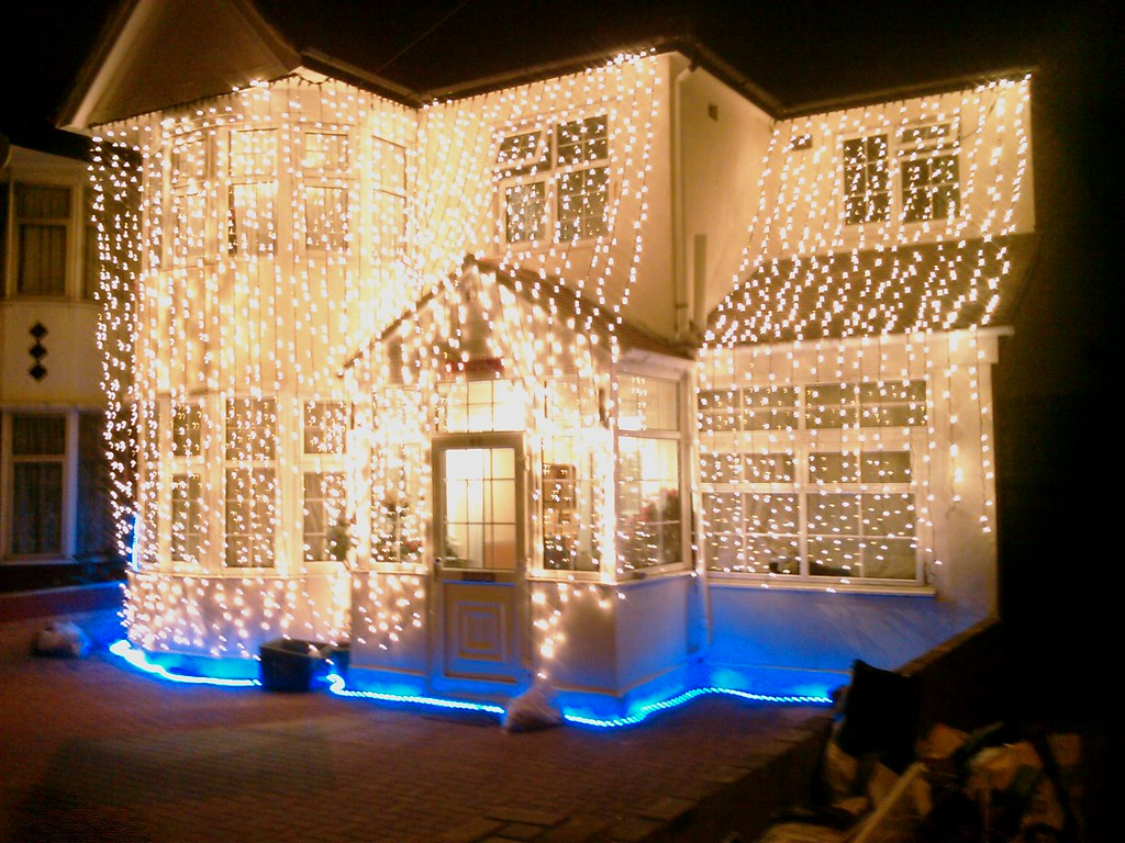 Beautiful indian wedding lights blue rope light drape Home decoration lights online india
