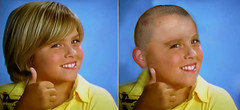 Dylan and Cole Sprouse get their heads shaved